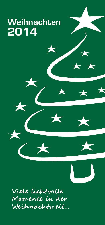 blickpunkte design: Grußkarte zu Weihnachten und zum Jahreswechsel von Staunraum in Moers Vorderseite