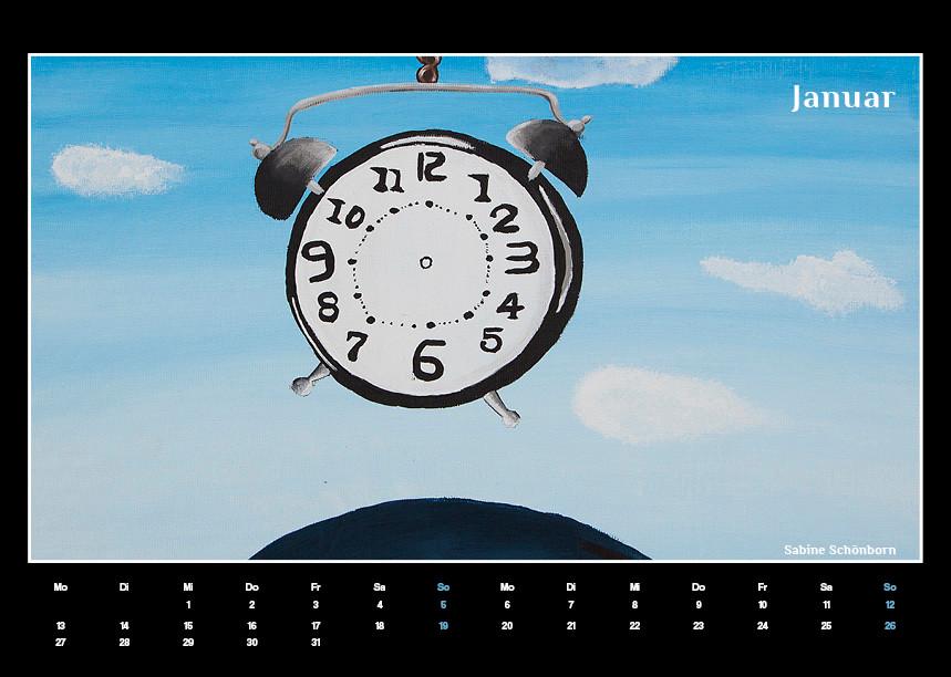 Kunstkalender für Schule in Moers, Grafik Büro