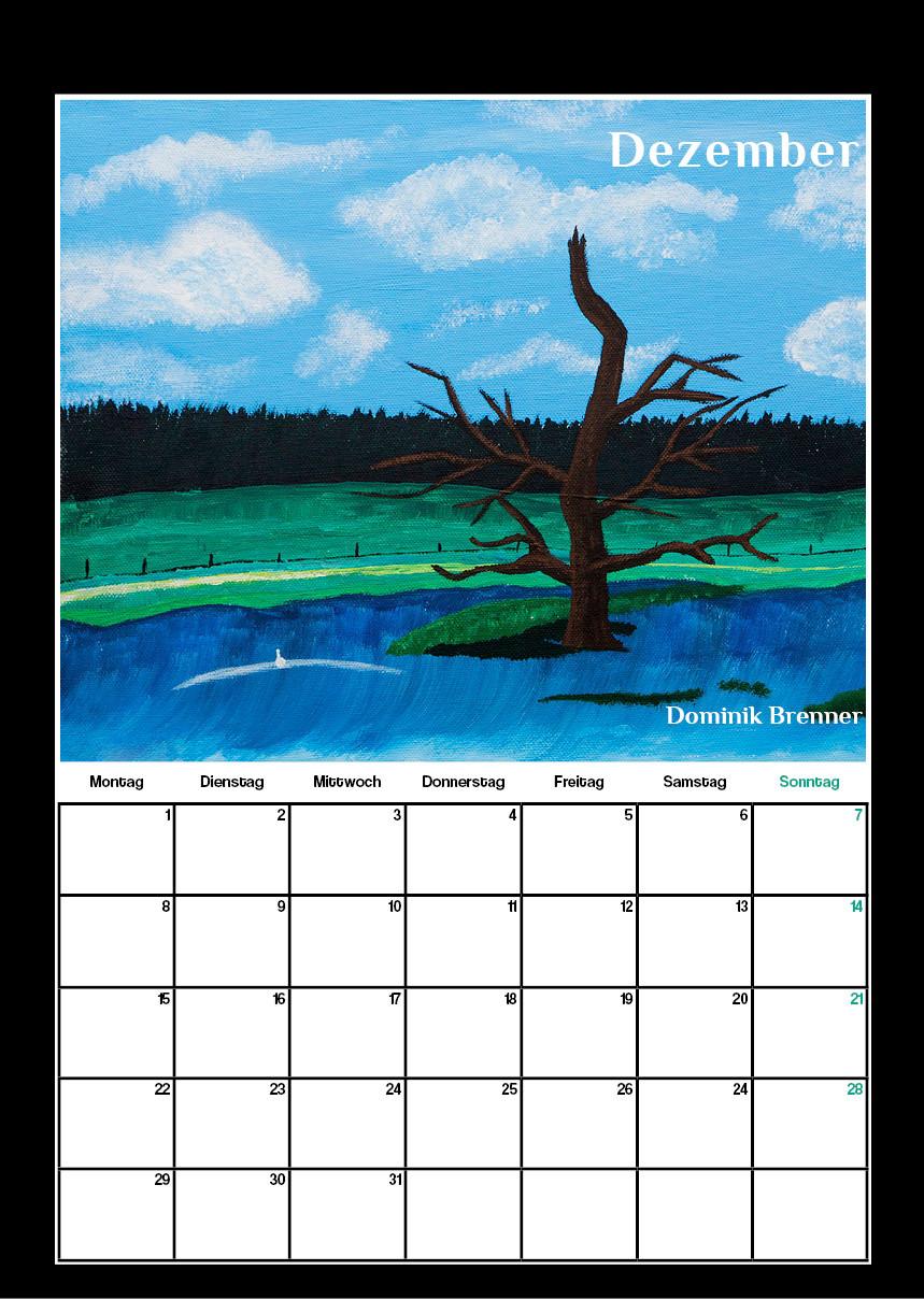 Kunstkalender für Schule in Moers, Grafik Design