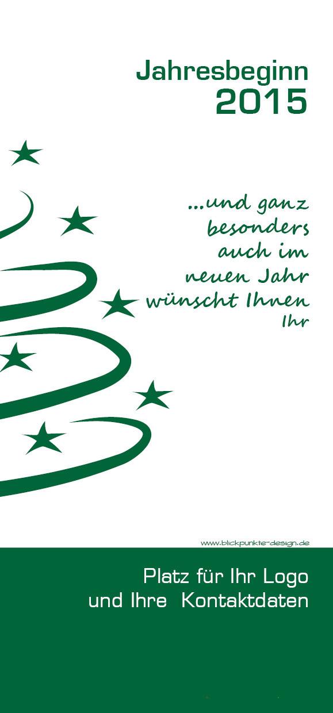 blickpunkte design: Grußkarte zu Weihnachten und zum Jahreswechsel von Staunraum in Moers Rückseite