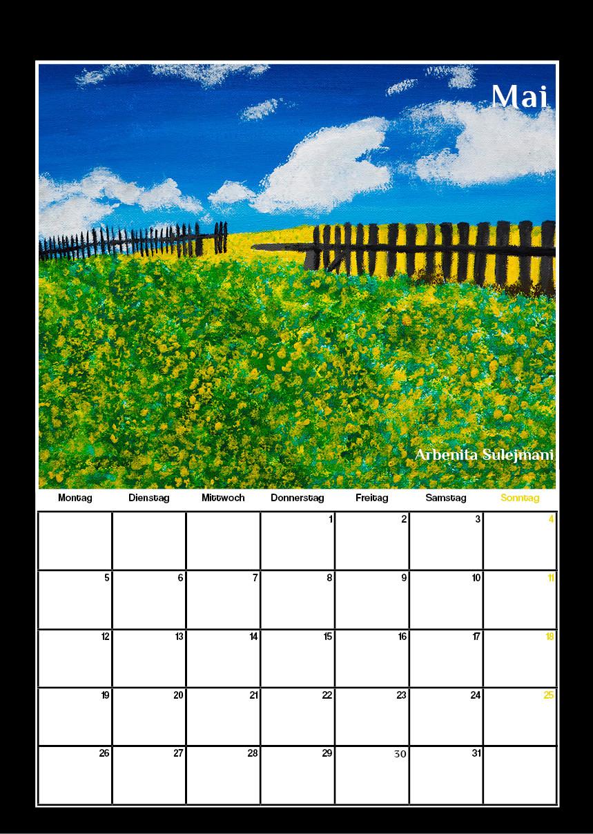 Kunstkalender für Schule in Moers, Werbeagentur