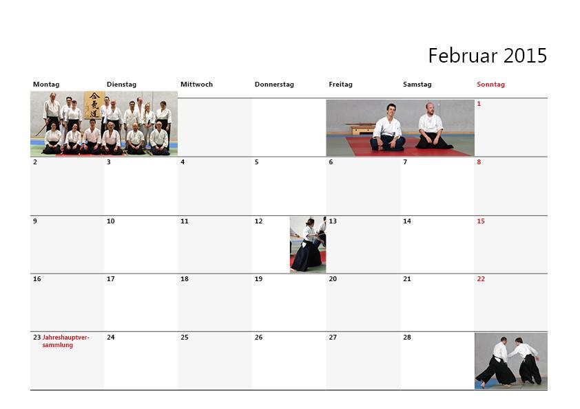 Kalender Entwurf für einen Verein, Layout von Werbeagentur Moers
