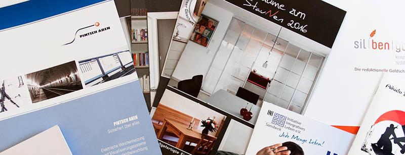 Broschüren, Magazine, Prospekte, Variantenvielfalt