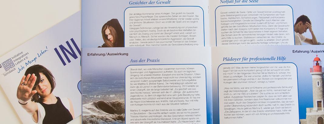 Grafik / Broschüre zum Thema Gewaltprävention für die INI Sonsbeck