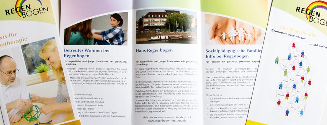 Grafik / Flyer/ Faltblätter für verschieden Fachgebiete von Regenbogen in Duisburg
