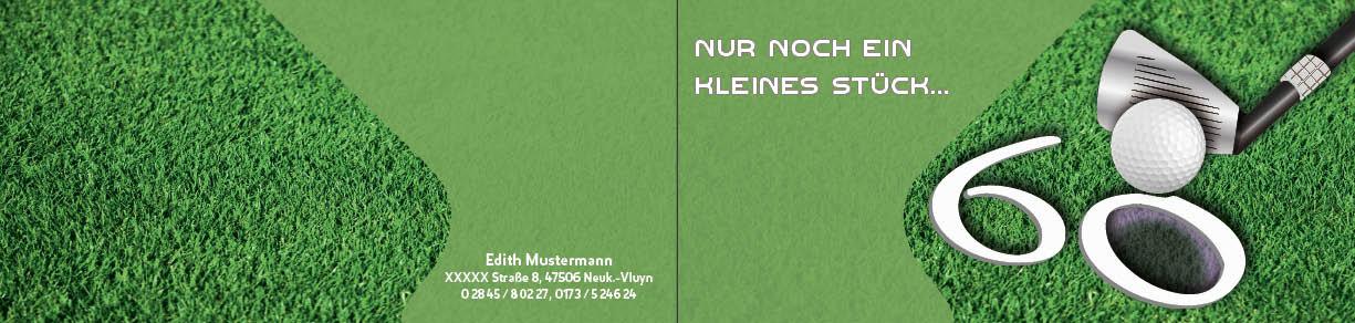 """EInladung 60. Geburtstag """"Thema Golf"""" Innenseite"""