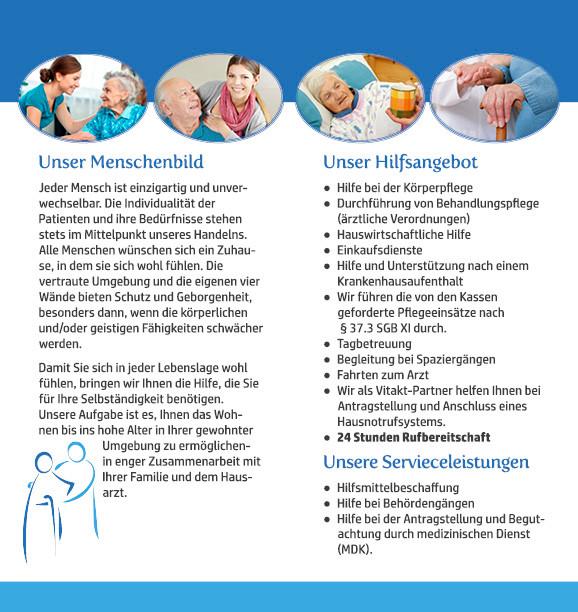 Flyer/ Folder/Faltblatt für Pflegedienst in Neukirchen-Vluyn von Grafik Büro in Moers