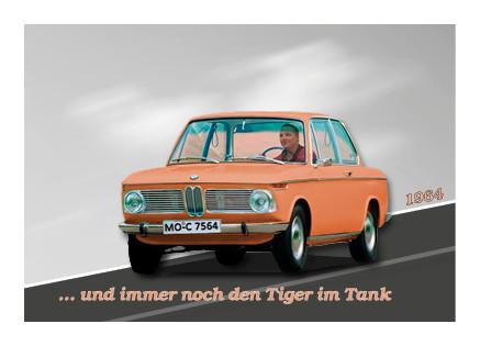"""50. Geburtstag50. Geburtstag Einladungskarte Thema """"BMW"""" Vorderseiteseite"""