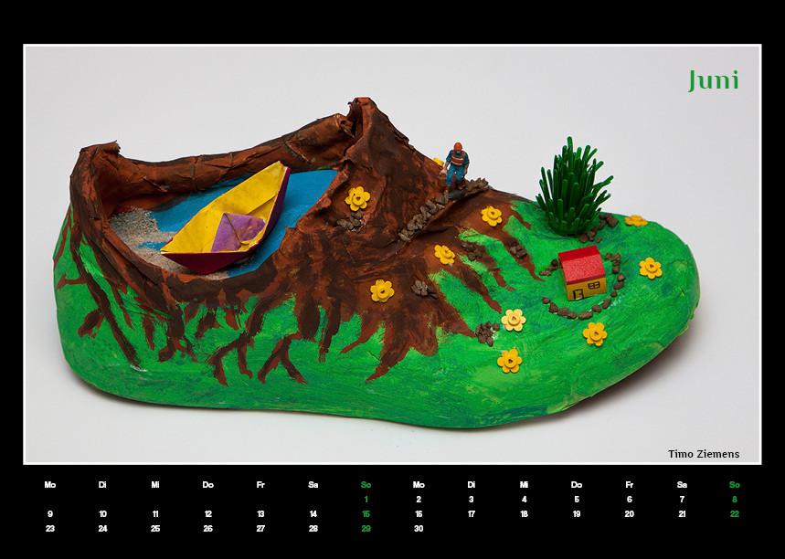Kunstkalender für Förderverein an einer Schule in Moers, Werbeagentur