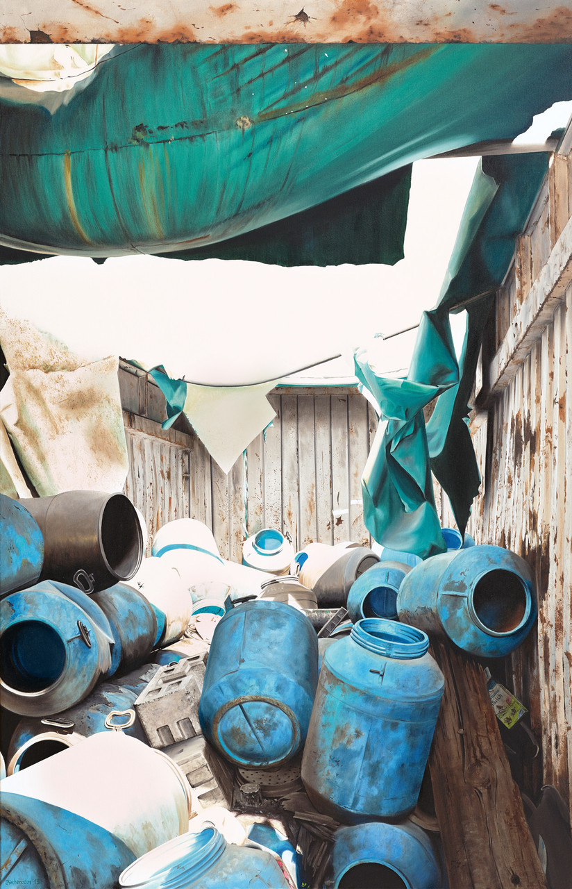 Container, Öl auf Leinwand, 95 x 145 cm, 2013