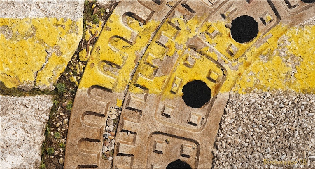 Grenzgelb9, Öl auf Leinwand, 55 x 30 cm, 2013
