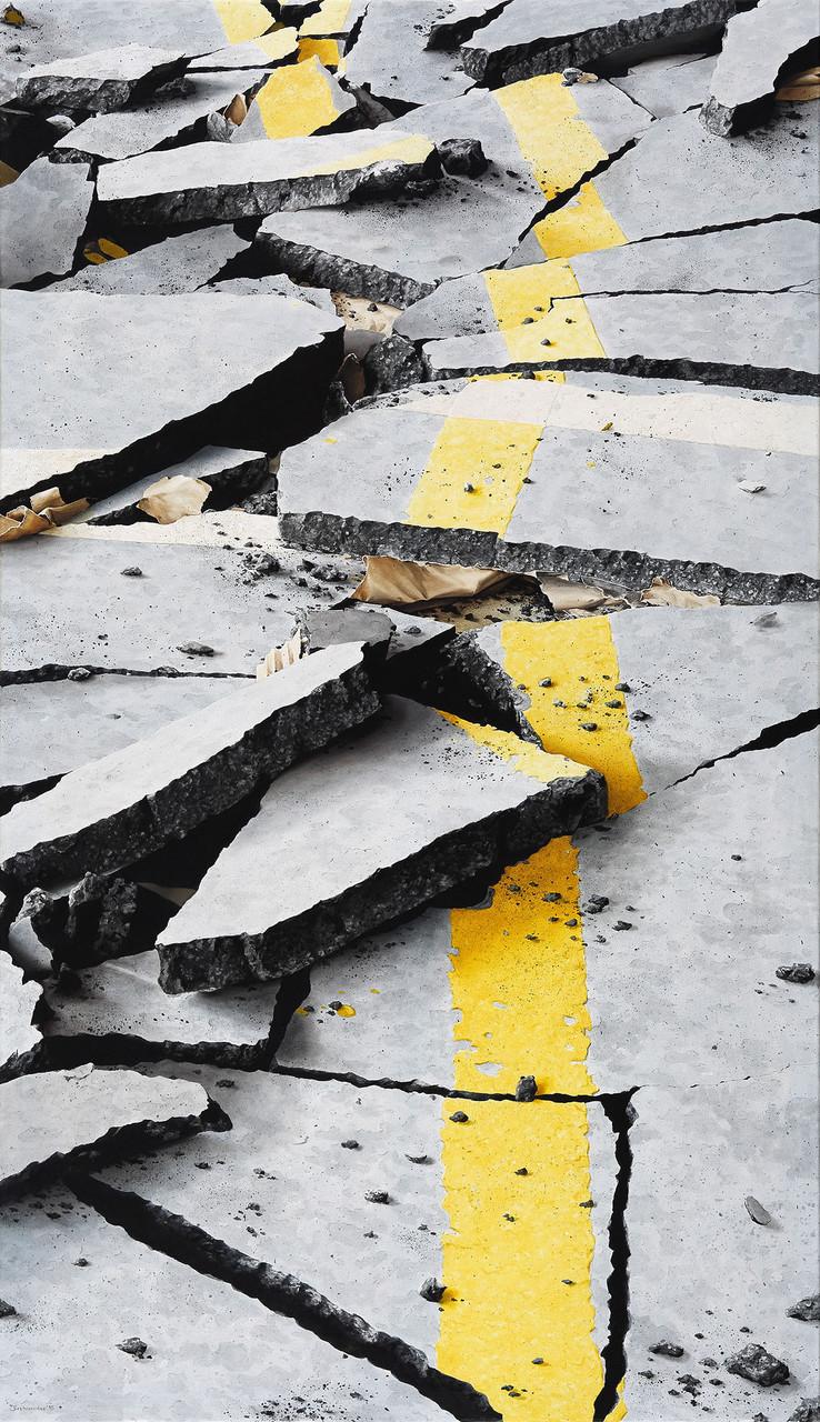 Grenzgelb16, Öl auf Leinwand, 165 x 95 cm, 2015