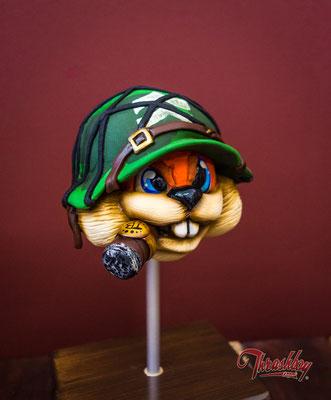 Conker Nintendo in Full 3D, Modelliert, Formenbau, Resin Guss, Bemalung