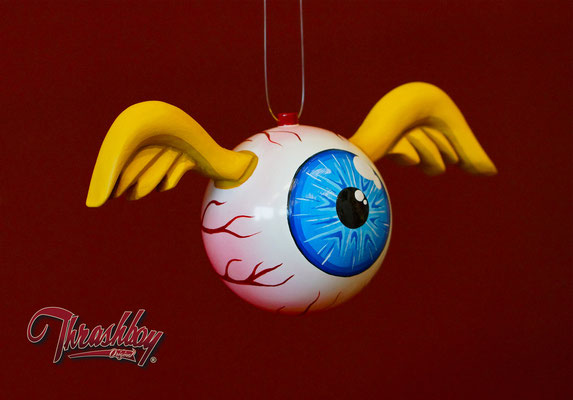 Flying Eye handmade, handpainted