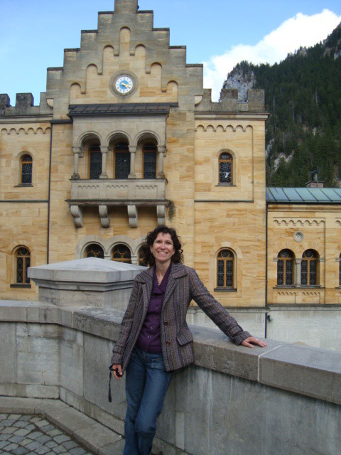 in the court of Neuschwanstein