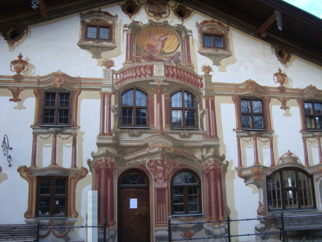 Decorated Pilatus House in Oberammergau