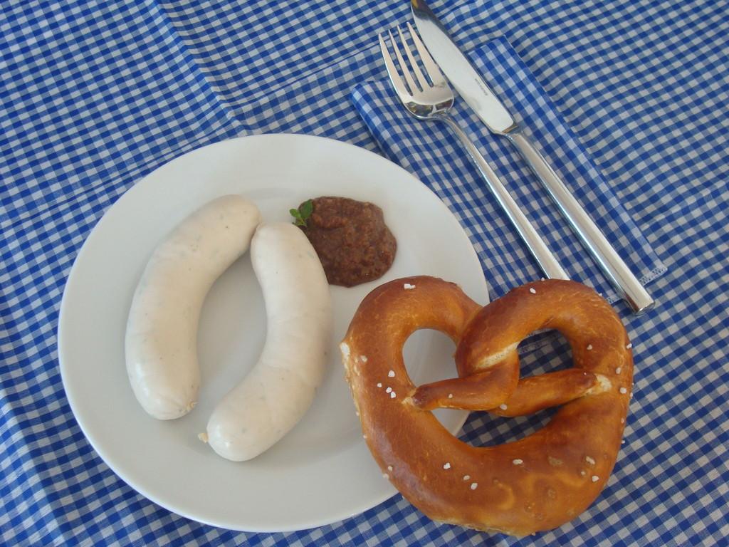 Weißwurst and Pretzel