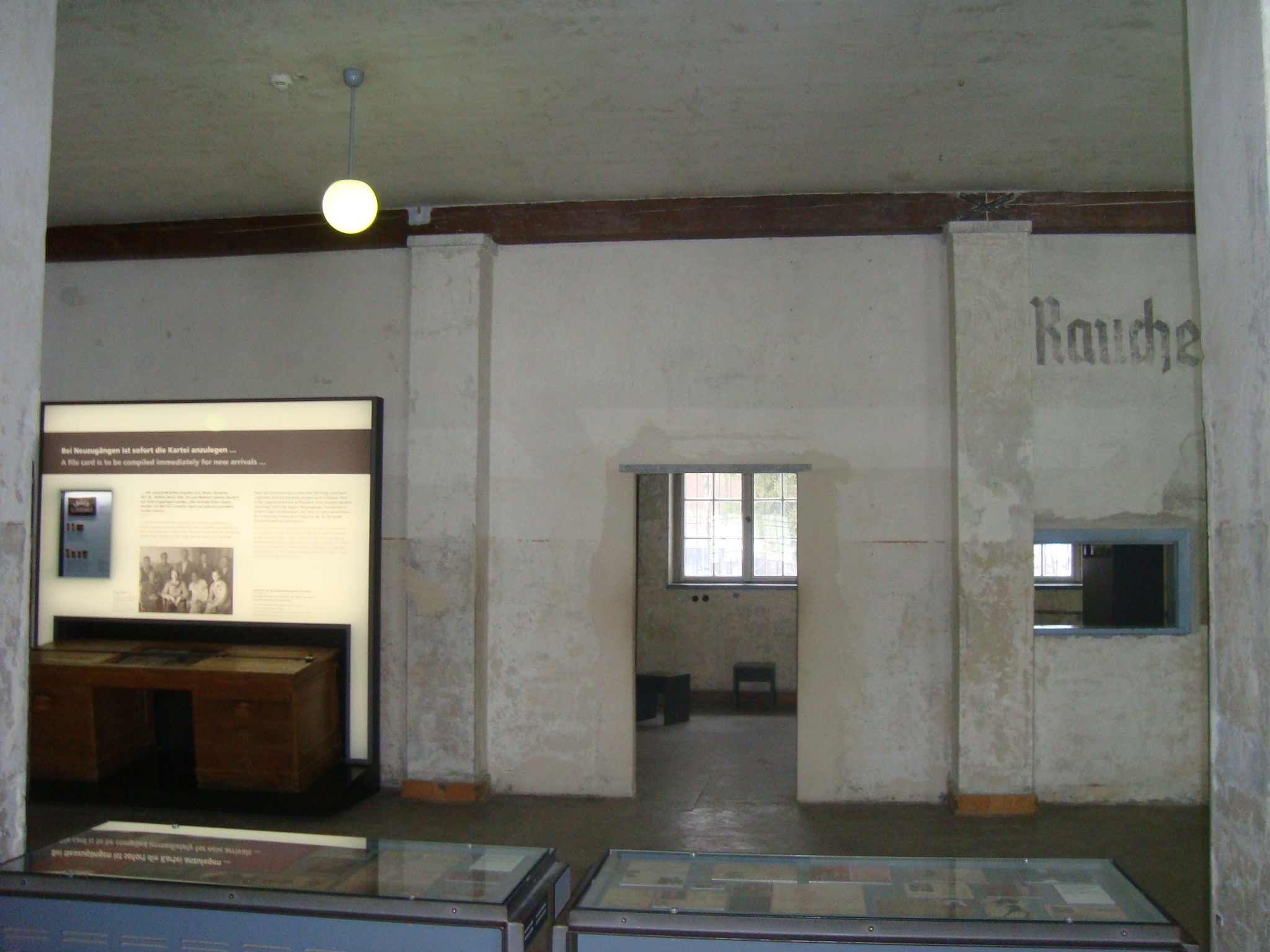 Registration office in the Dachau Memorial site exhibition