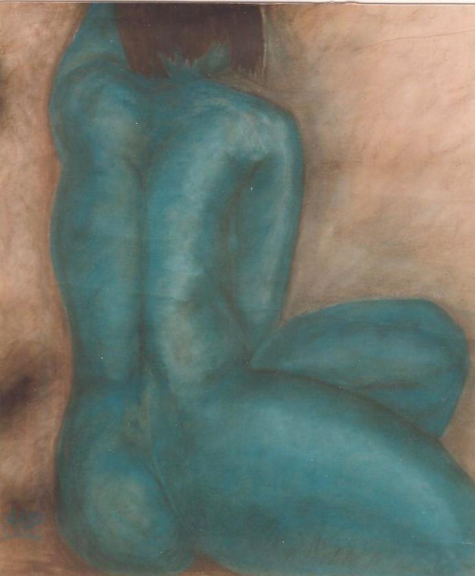 In die Ferne, 1999, Pastellkreide/Karton, 78 x 93,5 cm