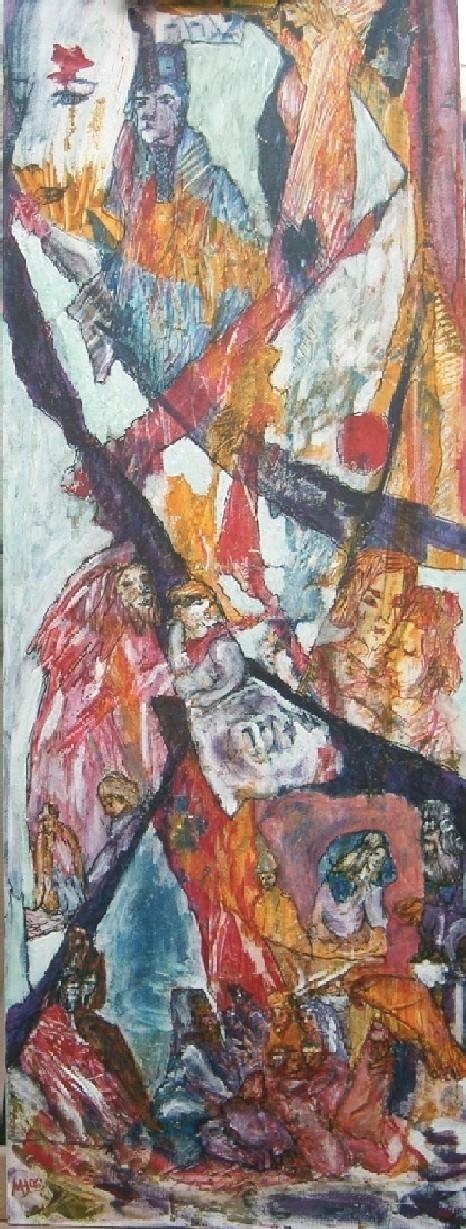 Freundschaft 2006, Mischtechnik/Leinwand, 30x80 cm