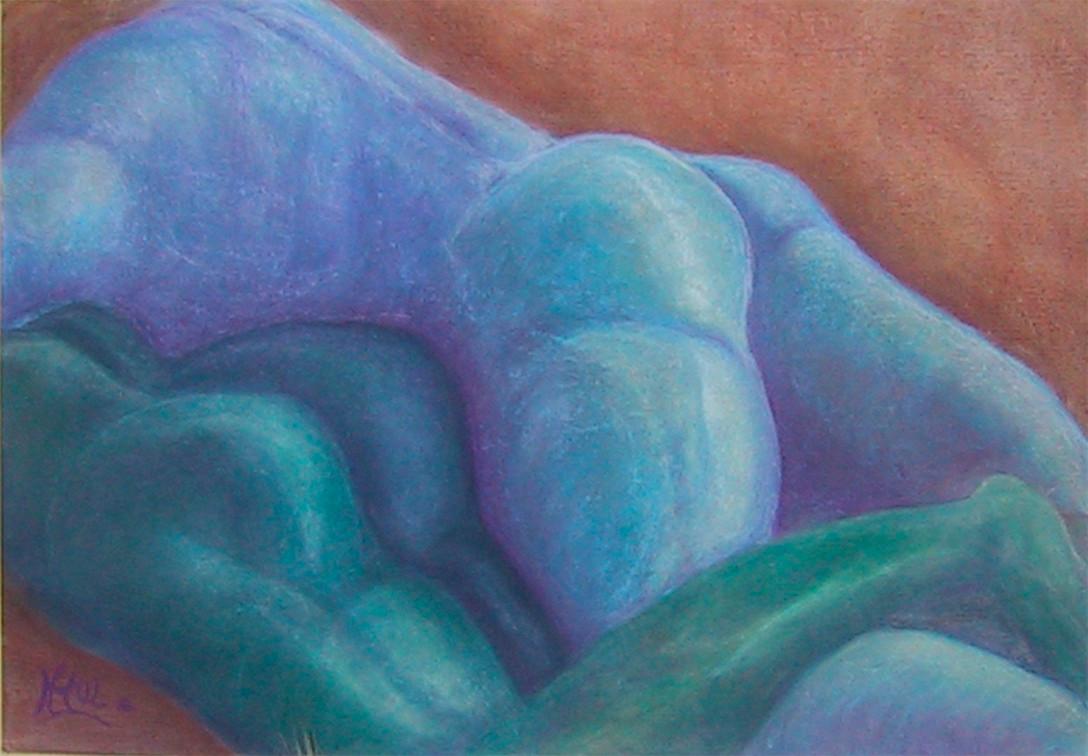 Urgestein, 2000, Pastellkreide/Karton, 100 x 70 cm
