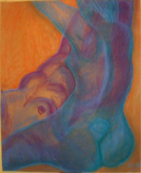 Die Gläsernen, 1999, Pastellkreide/Karton, 73,5 x 90,5 cm