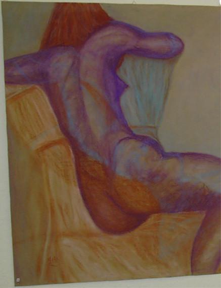 Abgewandt, 1999, Pastellkreide/Karton (verk.)