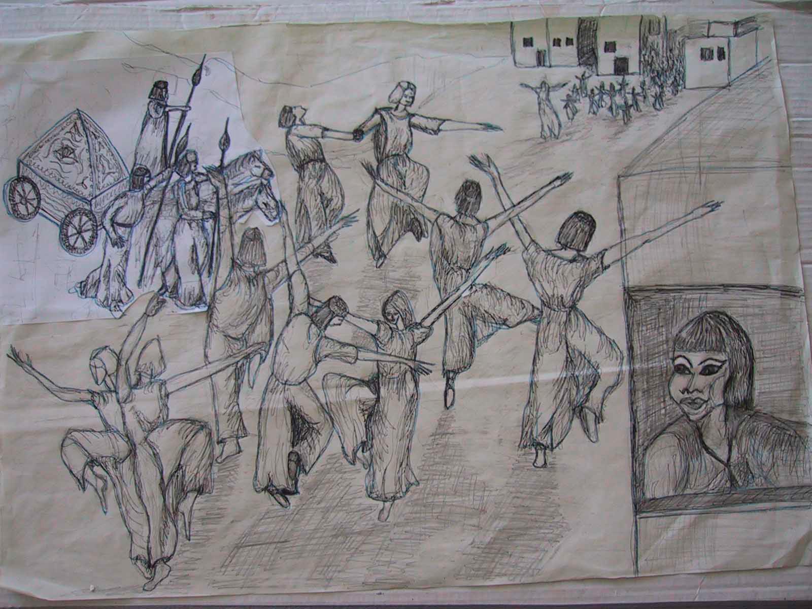 Bibel-Rückkehr mit Bundeslade-Skizze