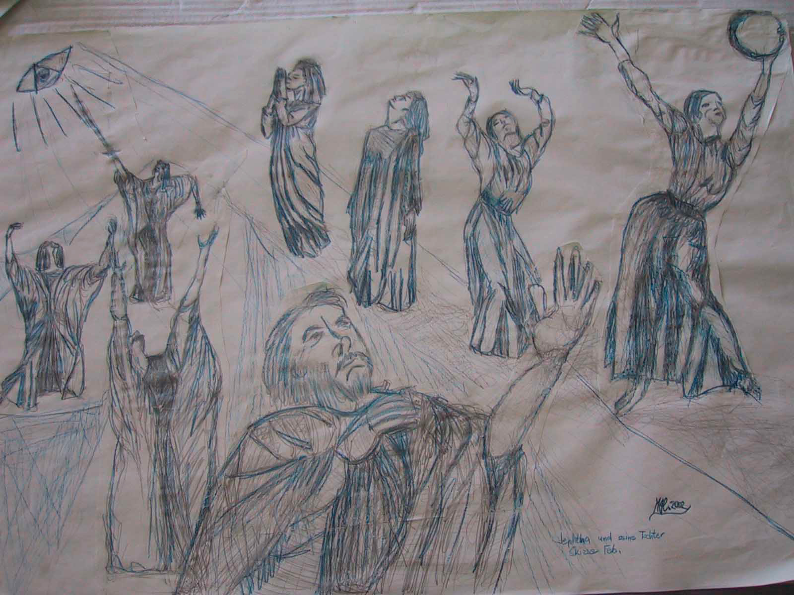 Bibel-Tanz der Elfta-Skizze