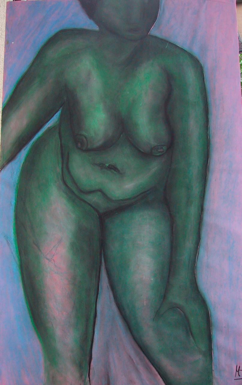 Venus, 1999, Pastellkreide/Karton, 70 x  90 cm