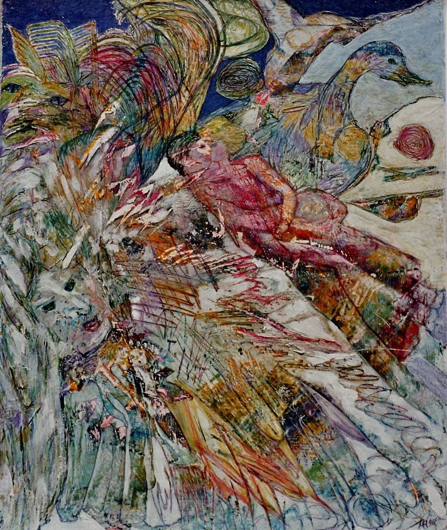 Liebe 2006,  Mischtechnik/Leinwand, 50x60 cm