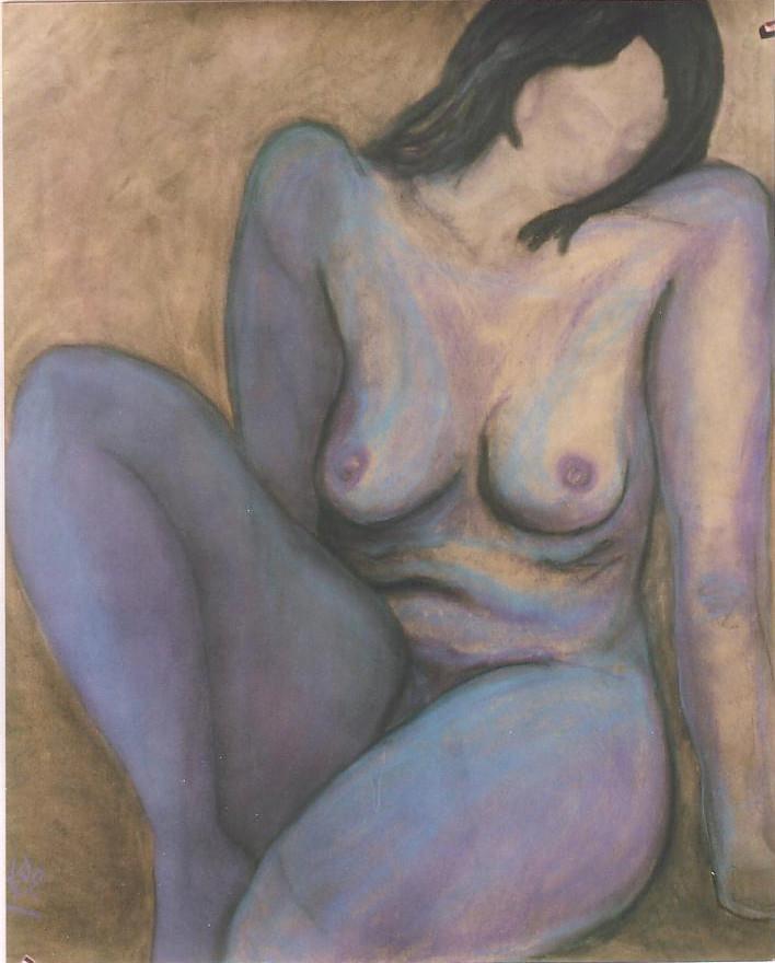 In Ruhe, 1999, Pastellkreide/Karton, 77 x 95 cm