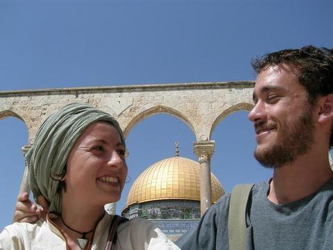 En la explanada de las mezquitas en Jerusalén
