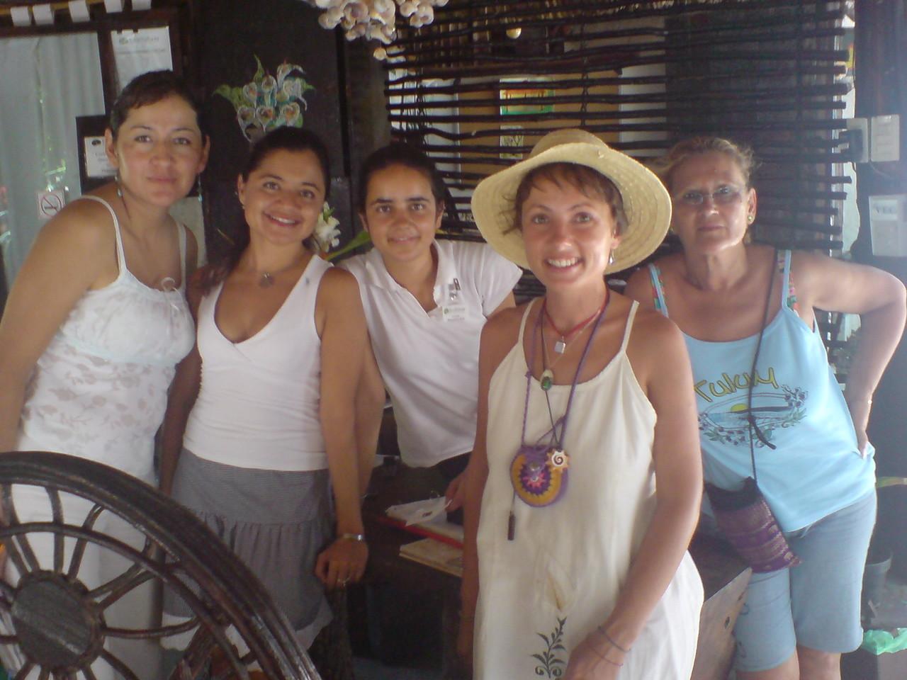 En Tulum, la Riviera Maya, México, antes de dar un curso de Reiki