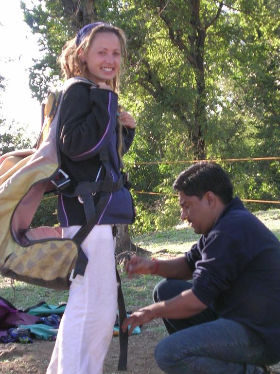 Saltando en paragliding