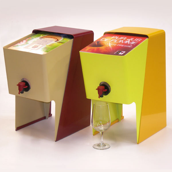 Conception et réalisation d'un présentoir pour Bag in Box