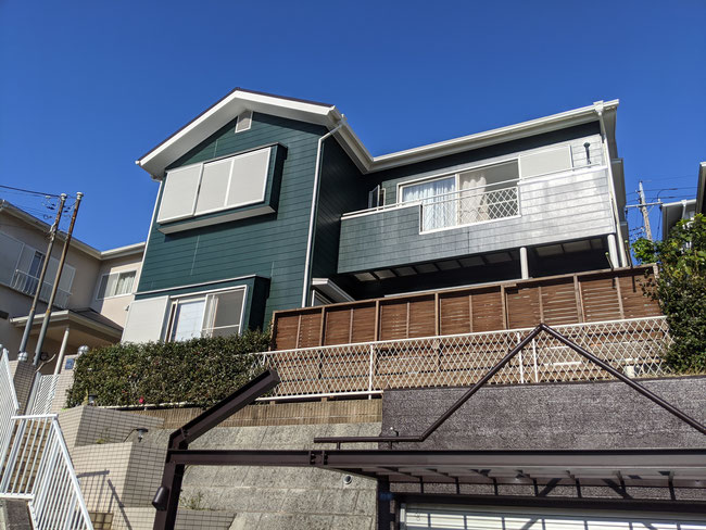 千葉県佐倉市外壁塗装工事完成