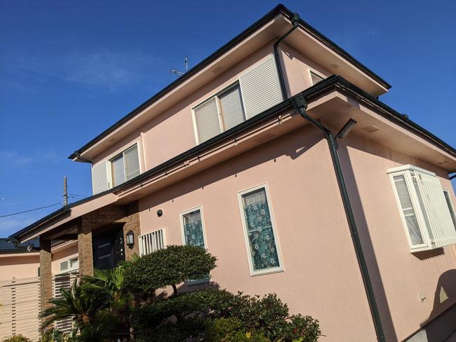 千葉県長生村外壁塗装工事完成