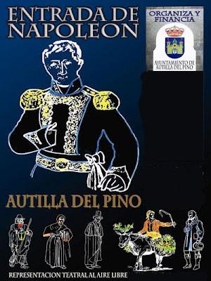 Cartel La Entrada de Napoleón Represantacion Teatral Autilla del Pino