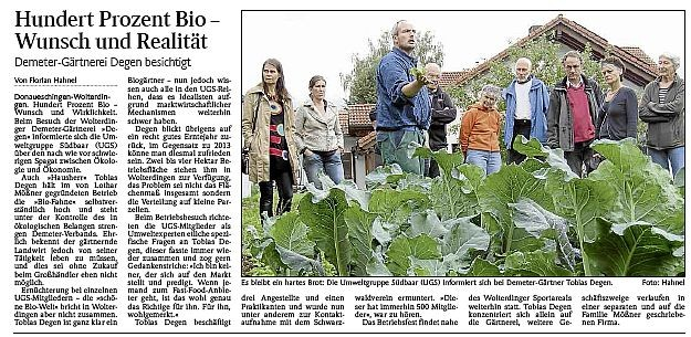 Betriebsbesichtigung Bio-Gemüseanbau DEGEN