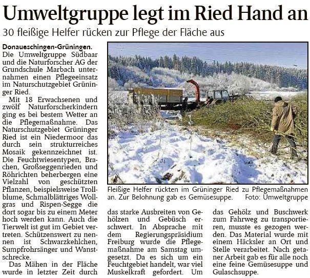 Schwarzwälder Bote 27-1-2014