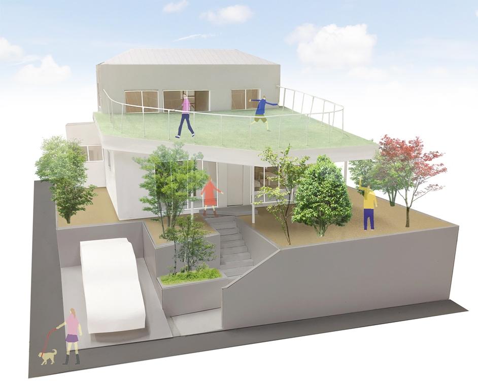 テクノロジーは一歩下がり、自然と共生し居所のたくさんある住まい〜YKK AP×リビタ「広がる屋根」を見学