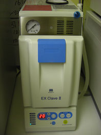 高圧蒸気滅菌器(数分で滅菌可能な高速滅菌器)