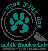 spot your dog Logo - mobile Hundeschule in Hamburg und Umgebung - Rita Kosanke Hundetrainerin §11