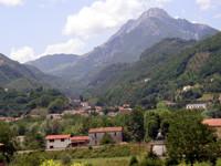 Tal des Torrente Turrite mit Blick auf den Pania della Croce