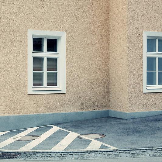 Peter Braunholz, ECKE III, 40 x 40 cm, Archivpigmentprint auf Hahnemühle Photo Rag Ultra Smooth Halbe Objektahmen mit Mirogard Museumsglas, Nr. 7/13+2AP