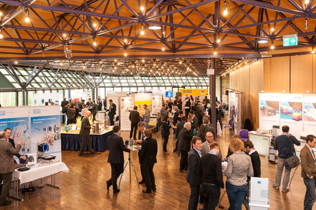 Exhibition hall at LANE conference