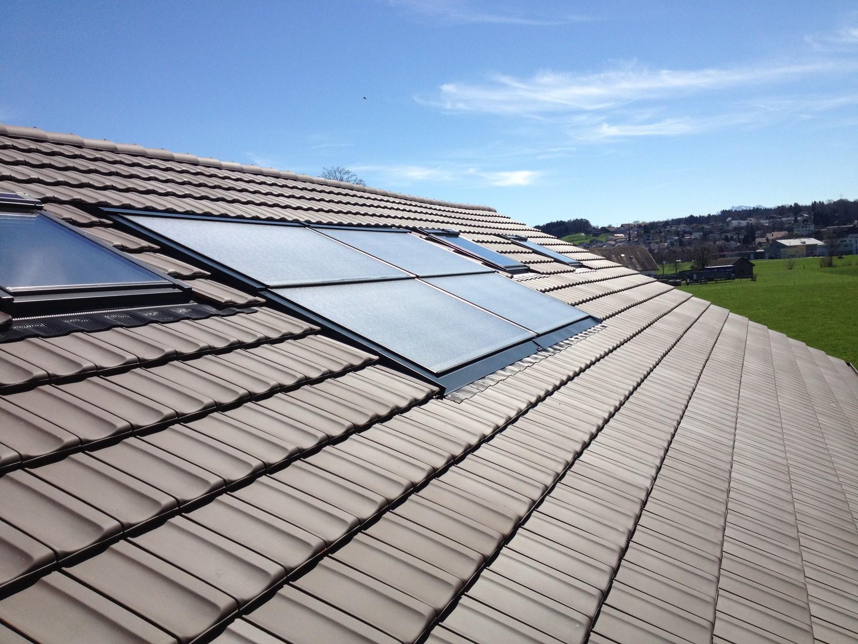 Solarthermische Anlage auf Wohnhaus