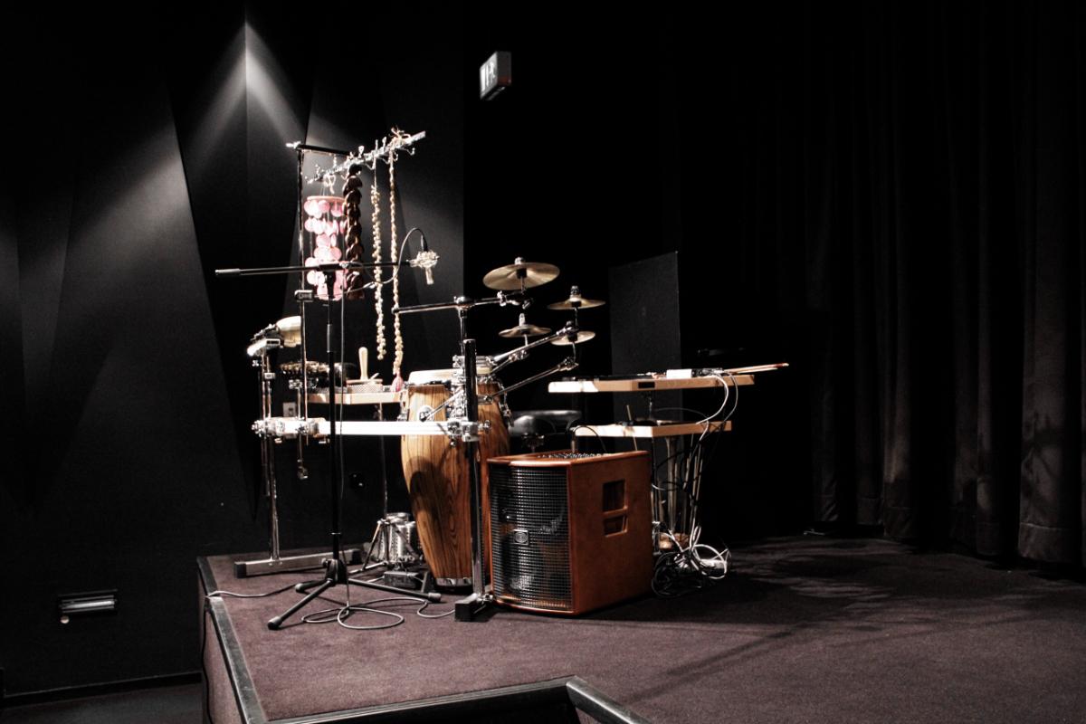"Percussion-Setup ""The Lodger"" - Black Box Düsseldorf"