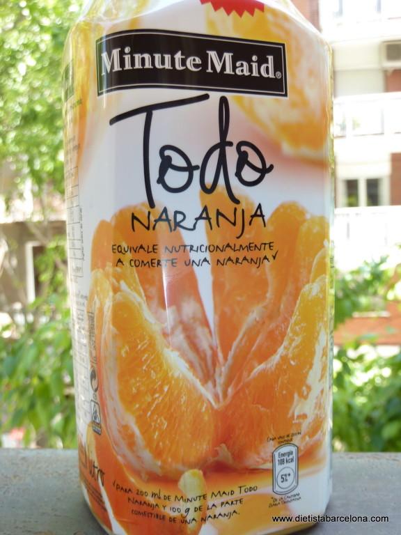 Minute Maid Todo Naranja, detalle del etiquetado